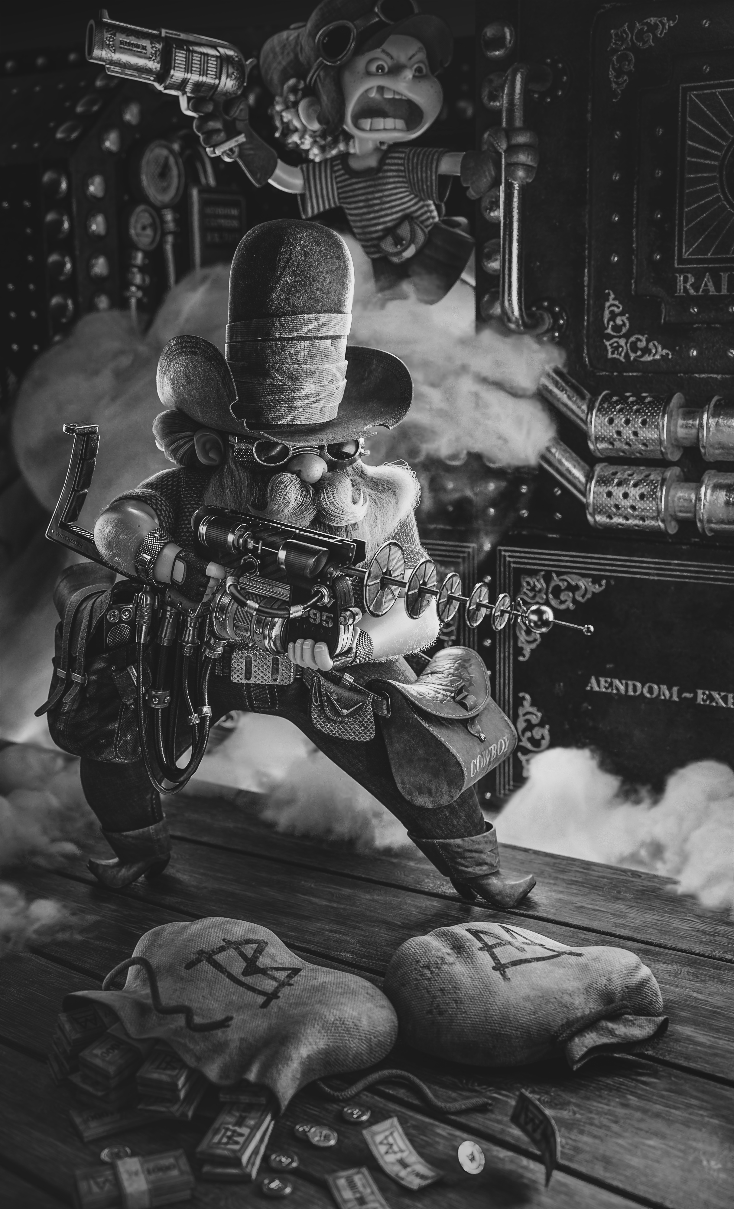 Laser Cowboy WORKFLOW EN