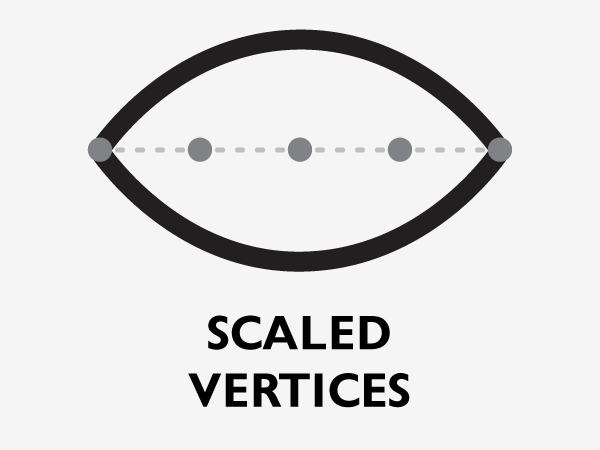 Scaled Vertices